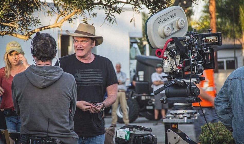 کوئنتین تارانتینو در پشت صحنه روزی روزگاری در هالیوود