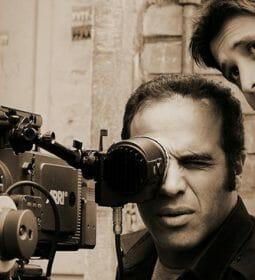پشت صحنه فیلم جیب بر خیابان جنوبی- پشت دوربین استاد علیرضا برازنده - و سیاوش اسعدی کارگردان فیلم