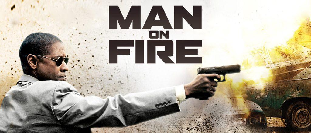 دنزل واشینگتن در مردی روی آتش