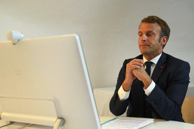 امانوئل مکرون رئیس جمهوری فرانسه